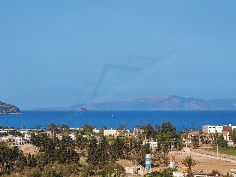 Bodrum Kadıkalesi Panoramik Doğa ve Deniz manzarasına sahip 3+1